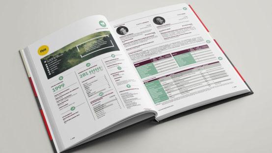 diagramação de catálogo